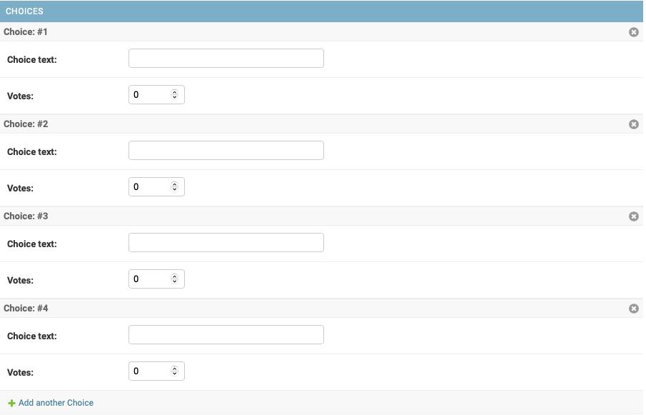 Polls change list page, updated