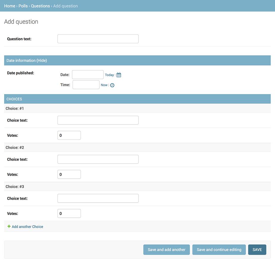 Writing your first Django app, part 7 | Django documentation