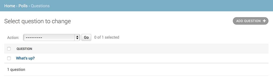 Страница списка изменений опросов